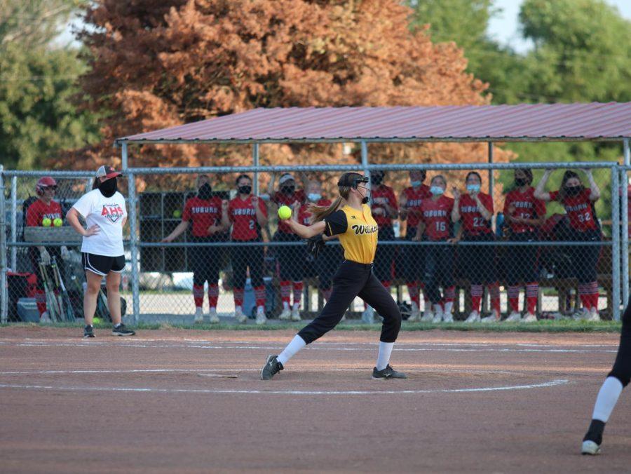Ali Gansemer winds up to pitch