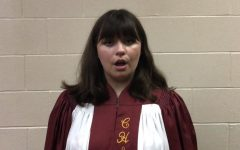 Senior Lily Drannen sings in the NMEA All-State Chorus. This year, chorus members recorded their parts individually, which will be compiled into a virtual performance.