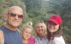 School nurse, Tracy Andersen, with her family: Husband Adam, and daughters Averie (8th) and Addison (11th)