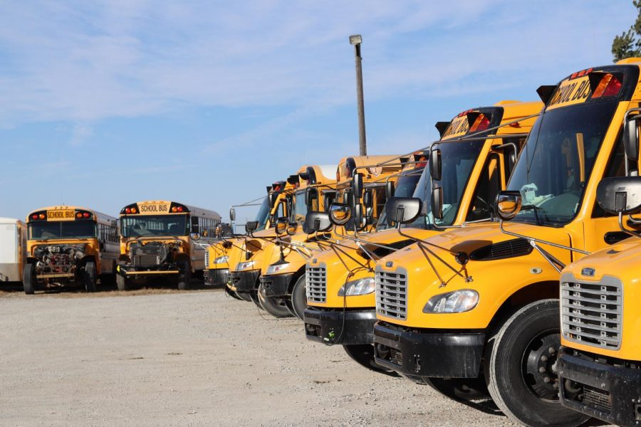 Mid-States School Buses are parked for the time being, after four drivers have tested positive for Covid-19. The bus company has suspended transportation for students at Conestoga Public Schools until after Thanksgiving Break.