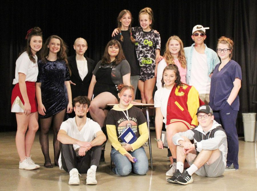 The cast of Conestoga's one-act