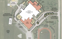 Diagram of potential additions to the Jr./Sr. High School.