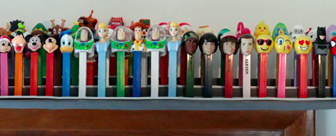 Part of McConnell's pez dispenser collection