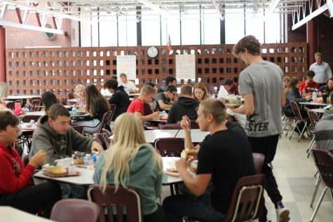 Conestoga students eat lunch in the cafeteria